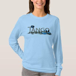 Tangoschuhe und -hut mit Boden T-Shirt