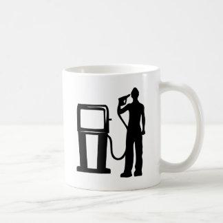 Tankstelle-Gewehr im Kopf Kaffeetasse