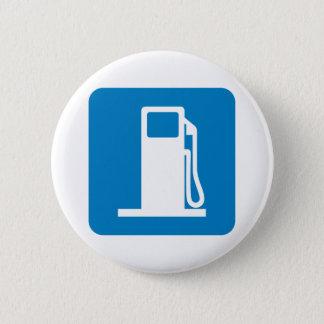 Tankstelle-Landstraßen-Zeichen Runder Button 5,1 Cm