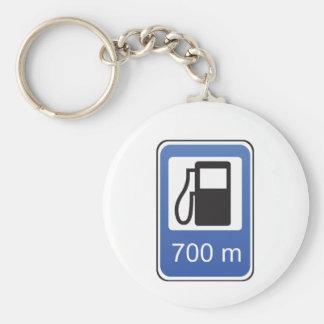 Tankstelle-Verkehrsschild Keychain Standard Runder Schlüsselanhänger