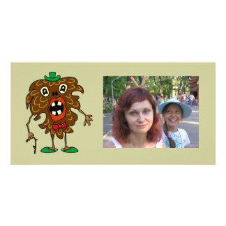 Tanne-Kegel Monster lustige Foto-Karte