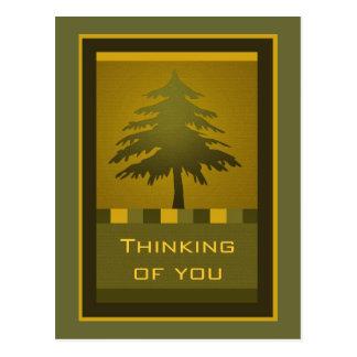 Tannen-Baumpostkarte Postkarte
