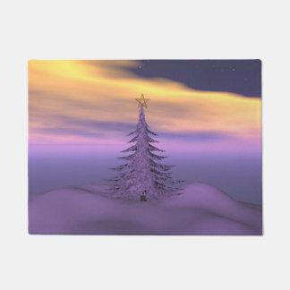 Tannenbaum und Schnee Türmatte