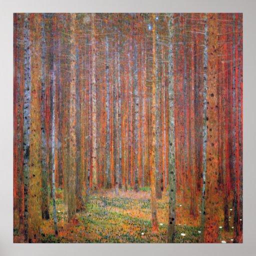 Tannenwald I durch Gustav Klimt Posterdrucke