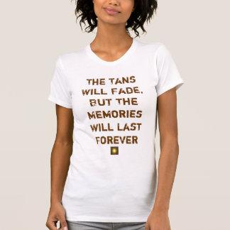 Tans verblaßt t-shirt