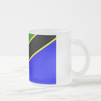 Tansania-Flagge Matte Glastasse