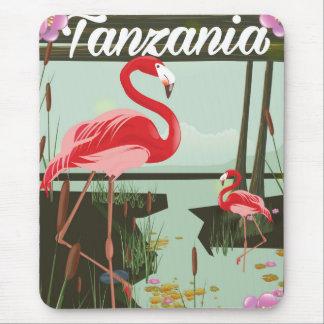 Tansania - See Natron - Flamingoreiseplakat Mousepad