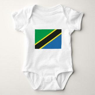 Tansanische Flagge Baby Strampler