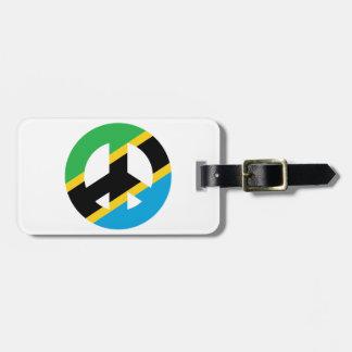 Tansanisches Friedenssymbol Gepäckanhänger