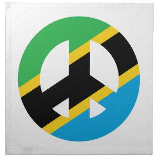 Tansanisches Friedenssymbol Stoffserviette