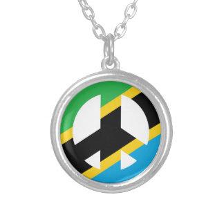 Tansanisches Friedenssymbol Versilberte Kette