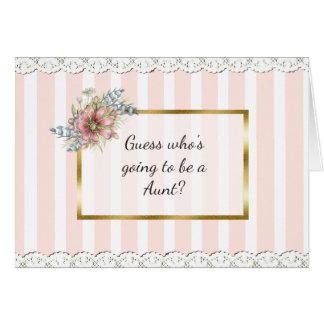 Tante Announcement Card Karte