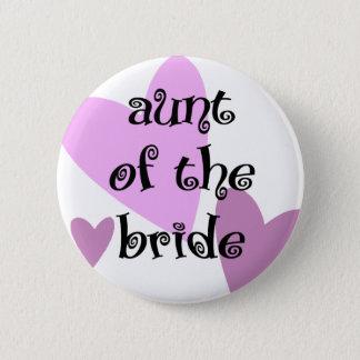 Tante der Braut Runder Button 5,7 Cm