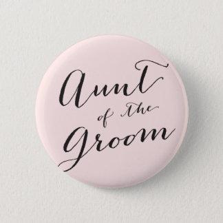 Tante des Bräutigam-Hochzeits-Brautparty-Knopfes Runder Button 5,1 Cm