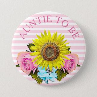 Tante, zum Babypartyknopf zu sein Runder Button 7,6 Cm