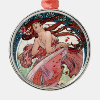 Tanz Alfons Muchas 1898 Silbernes Ornament