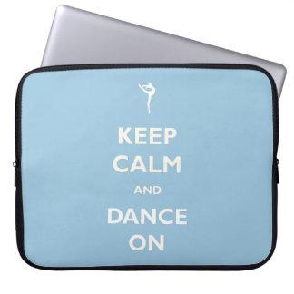 Tanz auf blauer Laptop-Hülse Laptop Sleeve