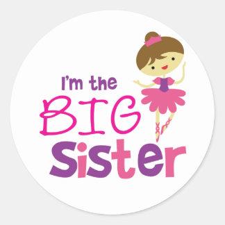 Tanz-Ballett-große Schwester Stickers