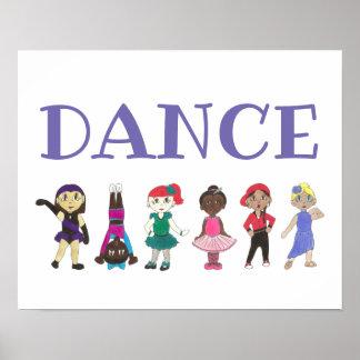 TANZ Ballett stechen Jazz Acro angesagtes Poster