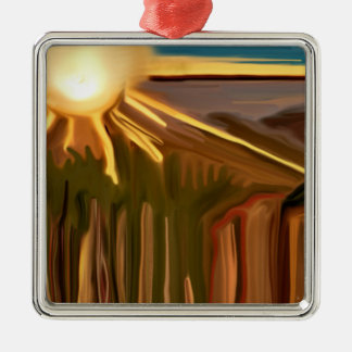 Tanz der Kaktus-abstrakten Kunst Silbernes Ornament