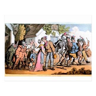 Tanz der Todespostkarte Postkarte