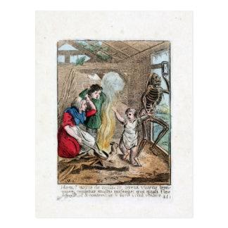 Tanz des Todes - das Kind - Farbdruck 1816 Postkarte