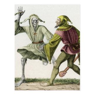 Tanz des Todes - der Dummkopf Postkarte