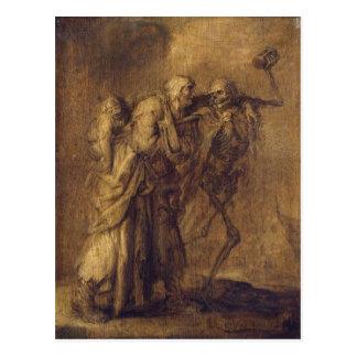 Tanz des Todes durch Adriaen van de Venne Postkarte