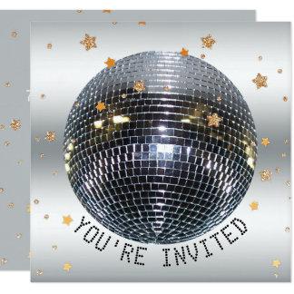 Tanz-Disco-Ball-Party des Karte