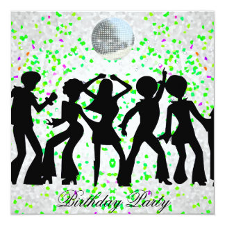 Tanz-Disco-Geburtstags-Party Einladung