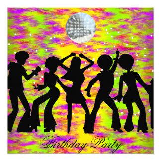 Tanz-Disco-Geburtstags-Party Einladung aquamarin