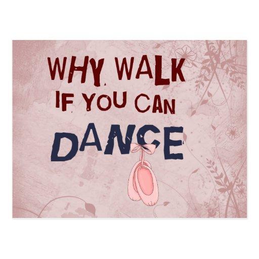 Tanz don´t Weg Postkarten