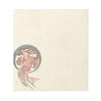 Tanz durch Alfons Mucha 1898 Notizblock