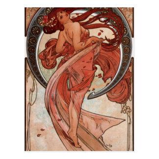 Tanz durch Alphonse Mucha Postkarte