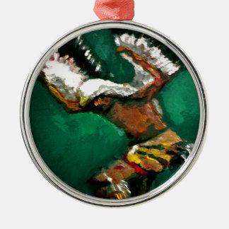 Tanz Eagles Silbernes Ornament
