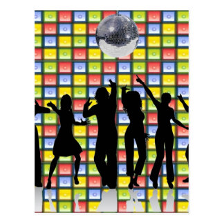 Tanz-Fieber Postkarte