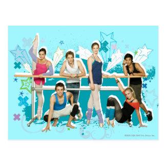 Tanz-Hochschulform-Grafik Postkarte
