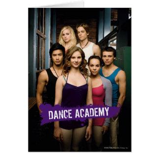 Tanz-Hochschulklasse Grußkarte
