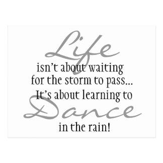 Tanz im Regen-Magneten Postkarte
