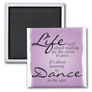 Tanz im Regen-Magneten Quadratischer Magnet