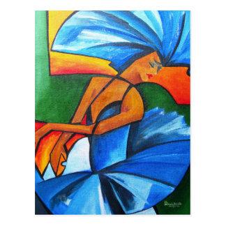 Tanz in Blau 2008 Postkarte