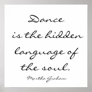 Tanz ist die versteckte Sprache des Souls. , Mrz… Poster
