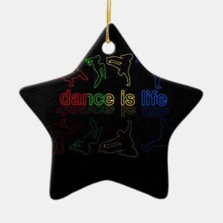 Tanz ist Leben Keramik Stern-Ornament