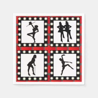 Tanz-Kabarett-Revuegirl-Tanzen Papierservietten