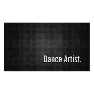 Tanz-Künstler-coole schwarze Metalleinfachheit Visitenkarten