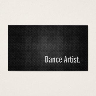 Tanz-Künstler-coole schwarze Metalleinfachheit Visitenkarte