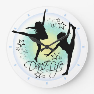 Tanz-Leben-Tanzen-Uhr Große Wanduhr