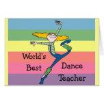 Tanz-Lehrerwaren der Welt beste Karte