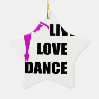 Tanz-Liebe Live Keramik Stern-Ornament