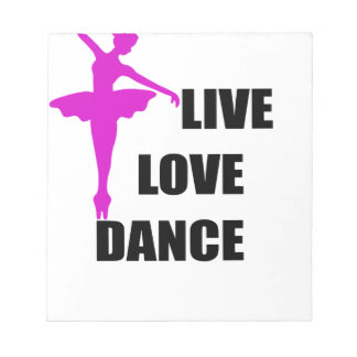 Tanz-Liebe Live Notizblock